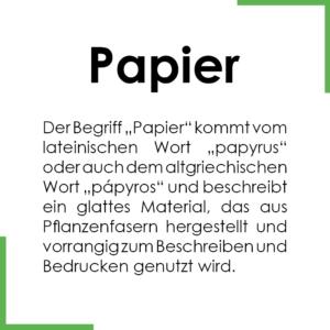 Papier - Definition